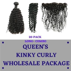 QUEEN'S KINKY CURLY LONG WHOLESALE PACKAGE