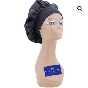 black silk bonnet