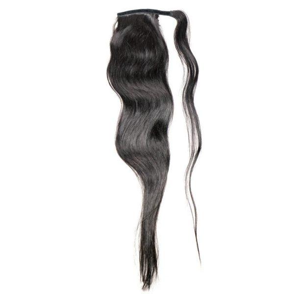 natural black ponytail