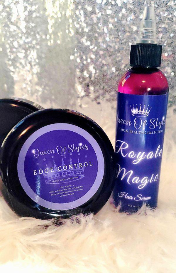 Queens edition edge control and Royale Magic hair serum