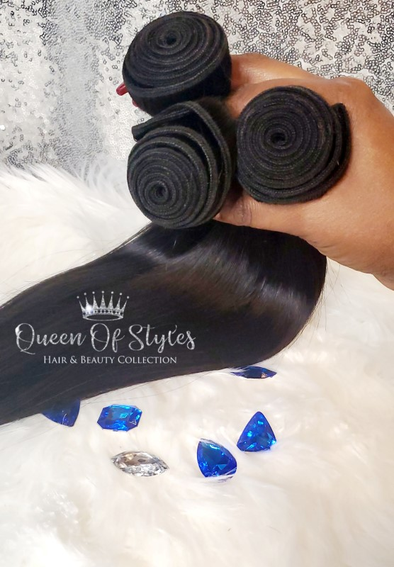 Queens silky straight bundles